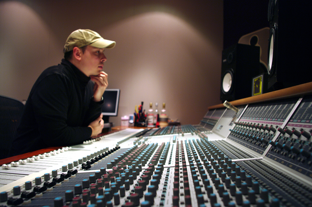 Robert Thomas in the Studio